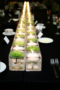 Wedding Centerpieces and Square Vase
