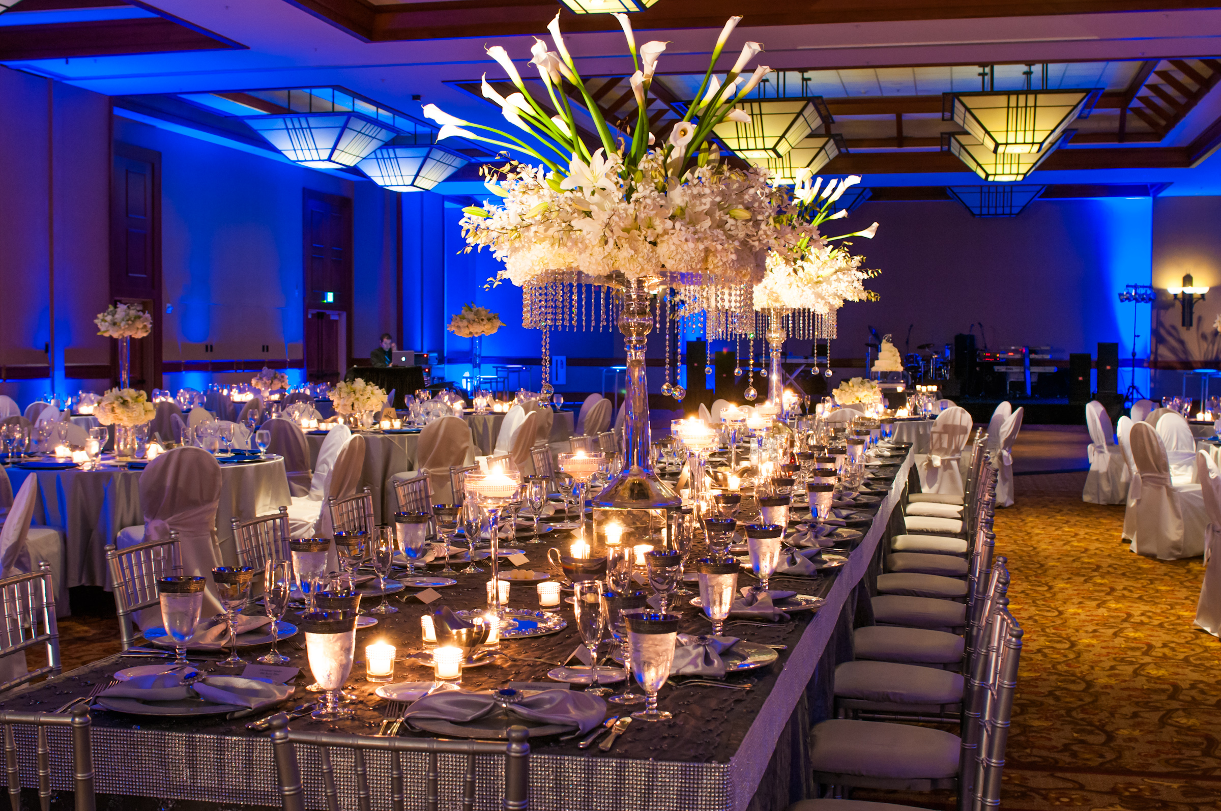 Photo long table flower centerpieces images wedding centerpieces square rectangular table ideas and top displays linen rentals junglespirit Choice Image