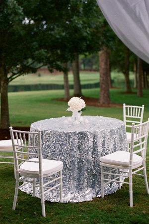 Bay Area Sequin Tablecloth Rentals Wedding Decoration
