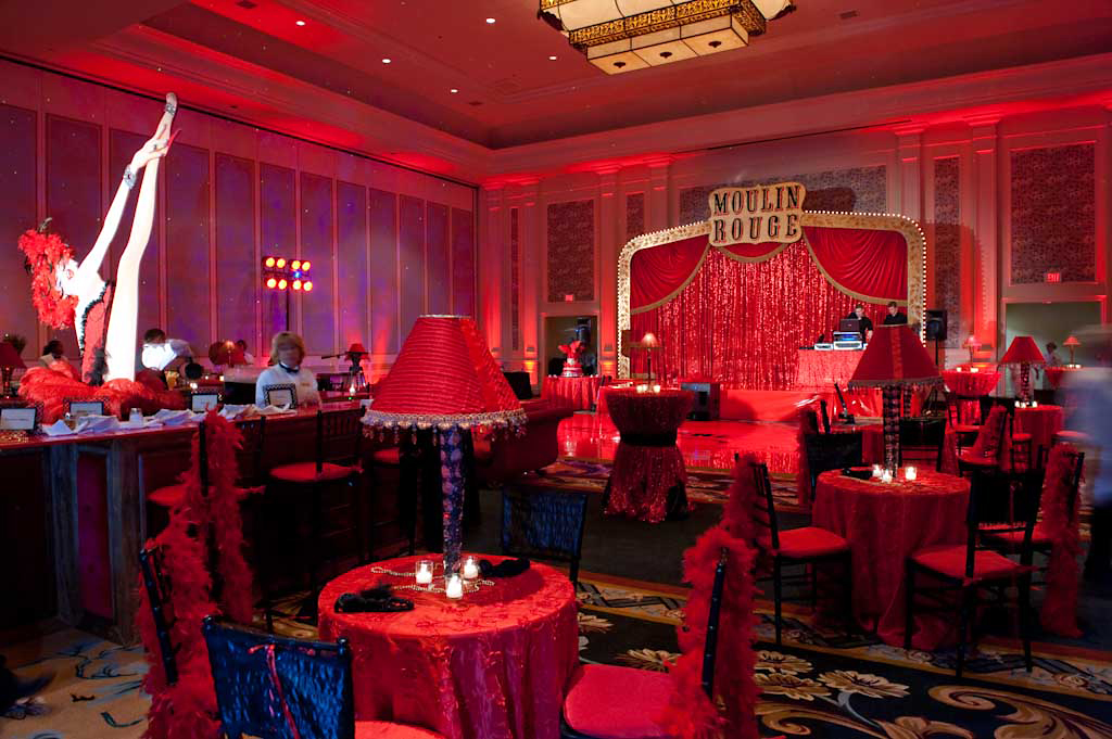 Moulin Rouge Theme Party Decorations Sacramento Wedding