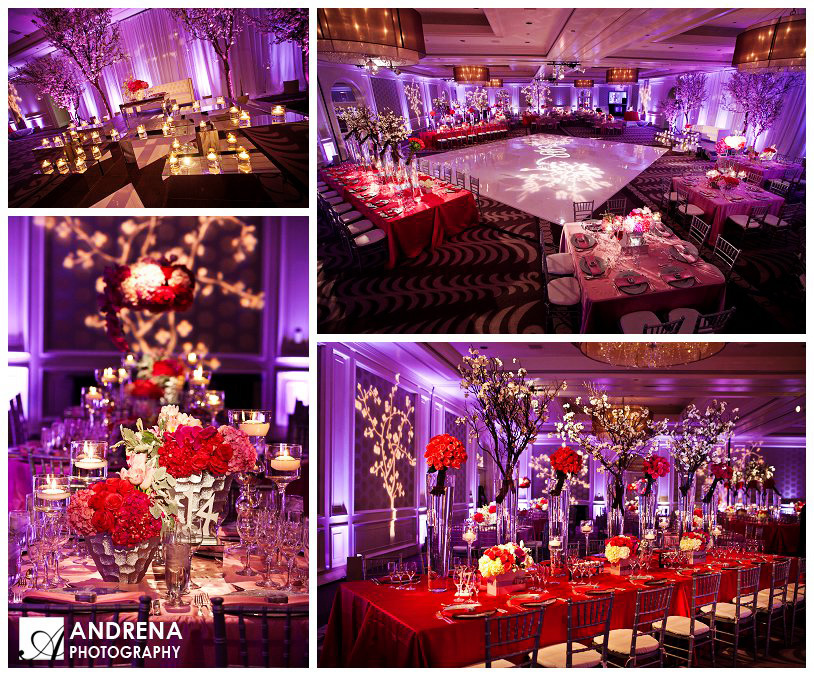 Red Purple Indian Wedding Decor Ideas Sacramento Wedding Planner