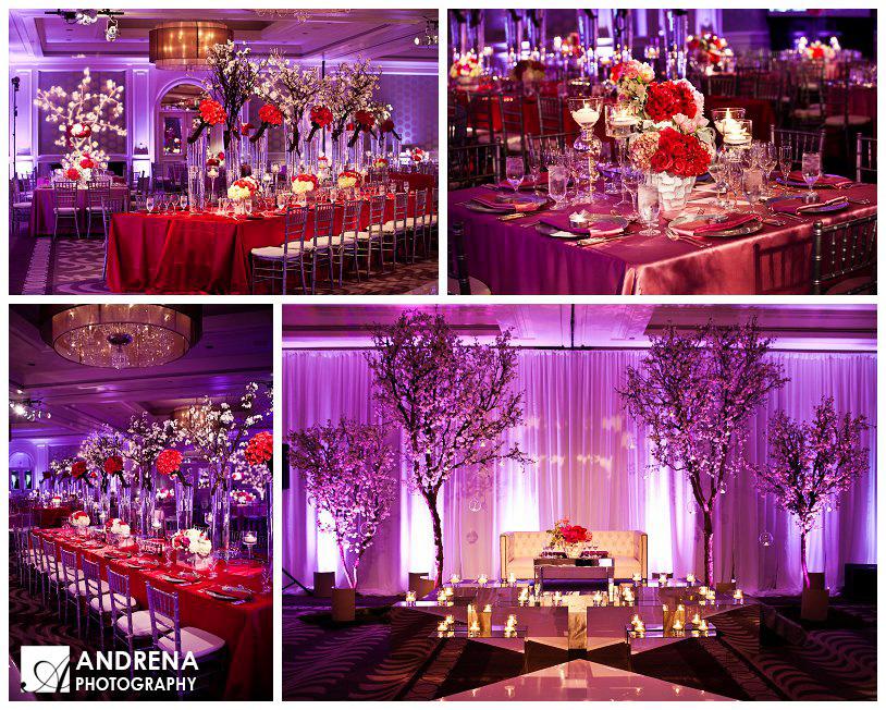 Red Purple Indian Wedding Decor Ideas Sacramento Wedding Planner
