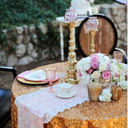 Bay Area Cheap Linen and Table Cloth Rentals | Sequin Runners Decor
