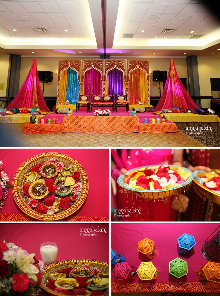 Bay Area Indian Wedding Decor Ideas Mehndi Sangeet Umbrella Centerpieces