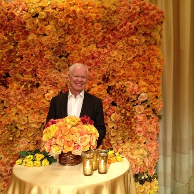 Kim Kardashian Wall Of Roses Wedding Decor Backdrop
