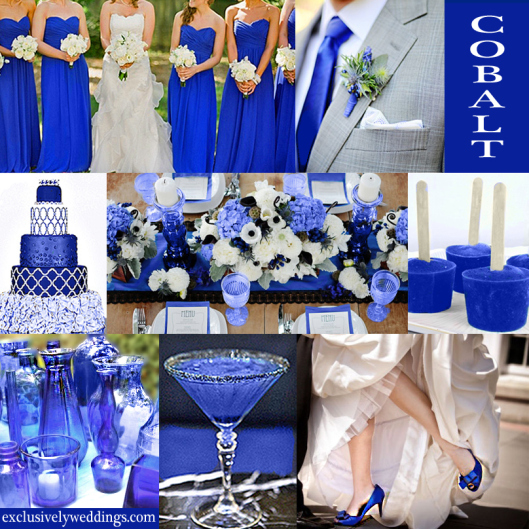 Diy Centerpices Cobalt Royal Blue Wedding Color Decor Ideas