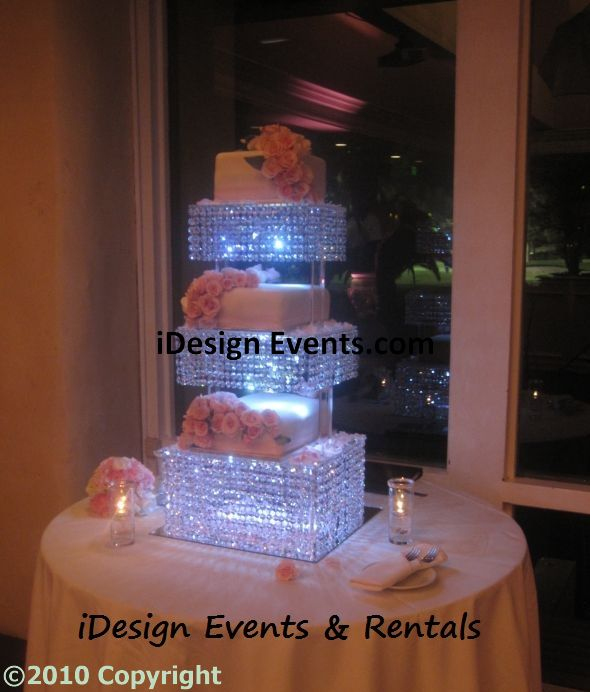 Crystal Cake Stand Rental