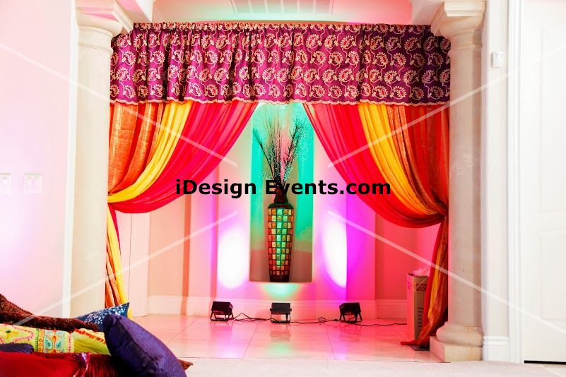 Hindu Indian Wedding Mandap House Decor Pipe Draping