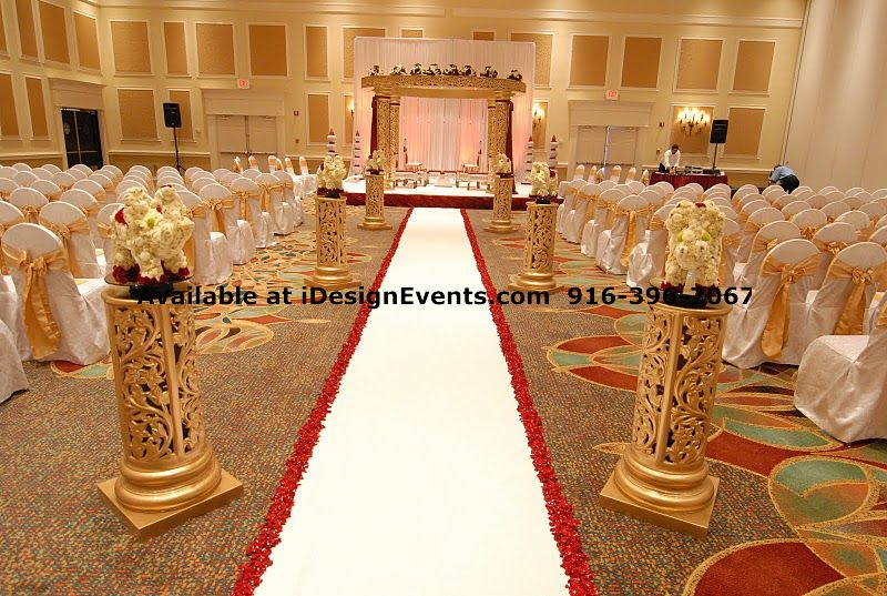 Crystal white pearl mandap rental indian ceremony for Asian wedding decoration hire