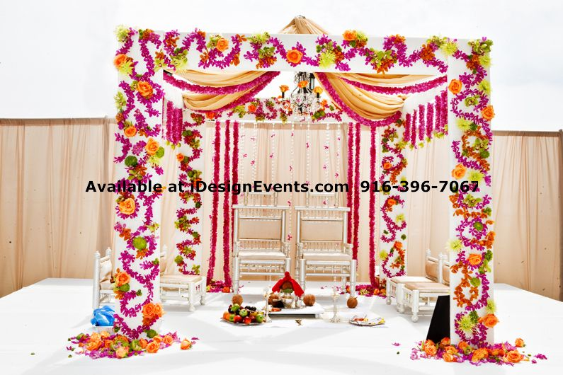 Mandap rentals idesign events indian decor ideas for Home decor ideas for indian wedding