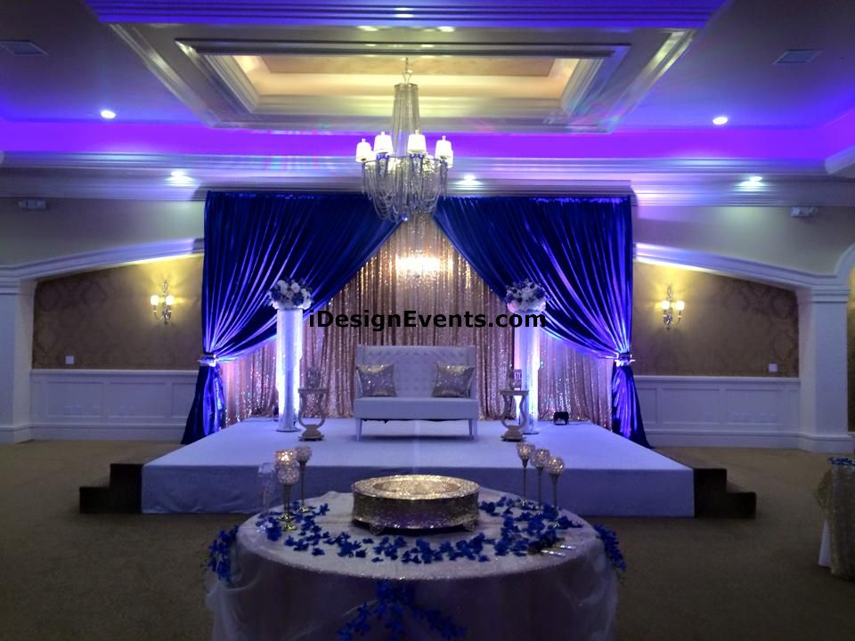 White Lotus Sacramento Banquet Hall Wedding Decor Ideas Gold