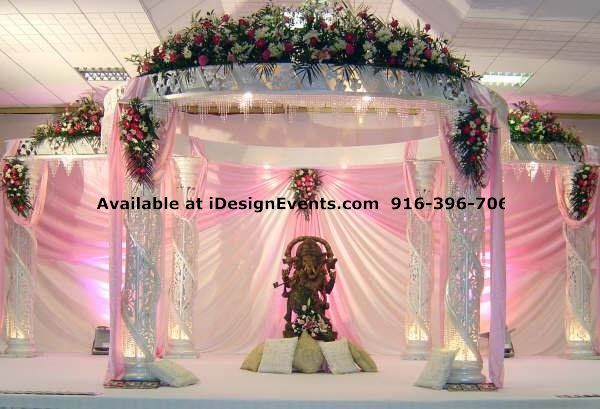 Crystal white pearl mandap rentals idesign events indian decor ideas crystal white pearl mandap rentals idesign events indian junglespirit Image collections