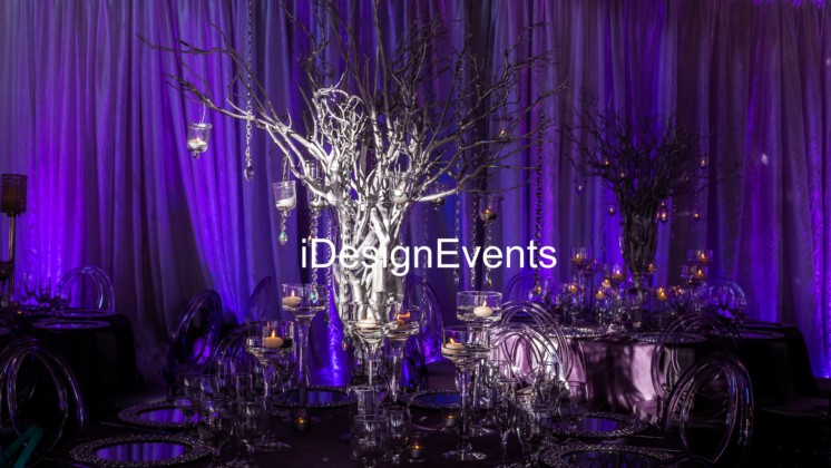 Lavender-purple-silver-wedding-reception-ideas